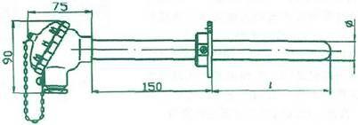 耐磨管式铠装热电偶